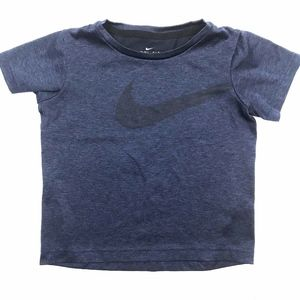 Nike* Dry-Fit Boy's Blue Swoosh T-Shirt XS